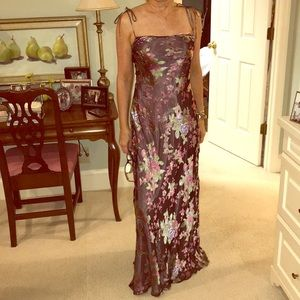 BCBG Floral Evening Dress
